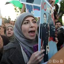 Palestinian woman protests President Obama's visit